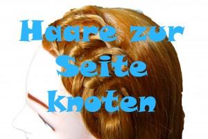 Haare zur einer Seite knoten